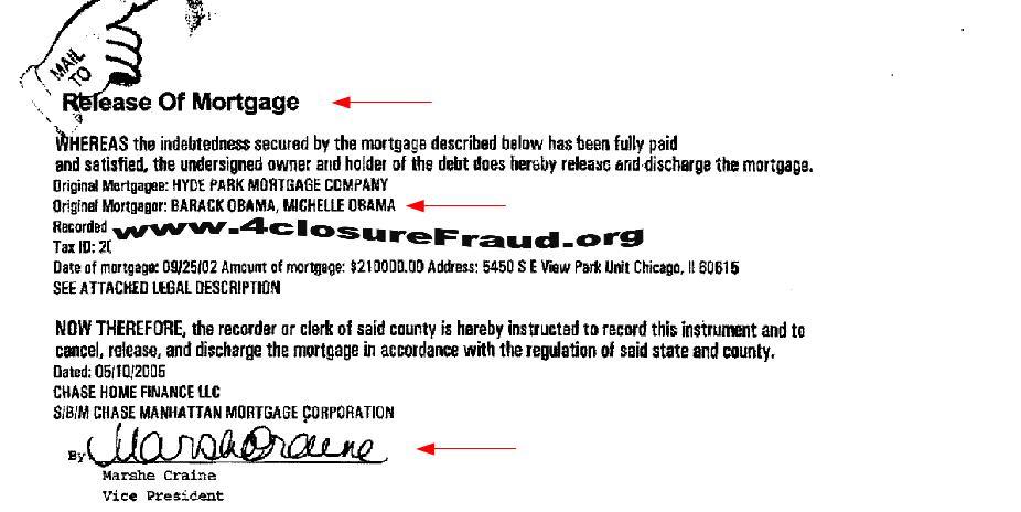 4closureFraud Exclusive \u2013 President Obama Falls Victim to Chase Robo