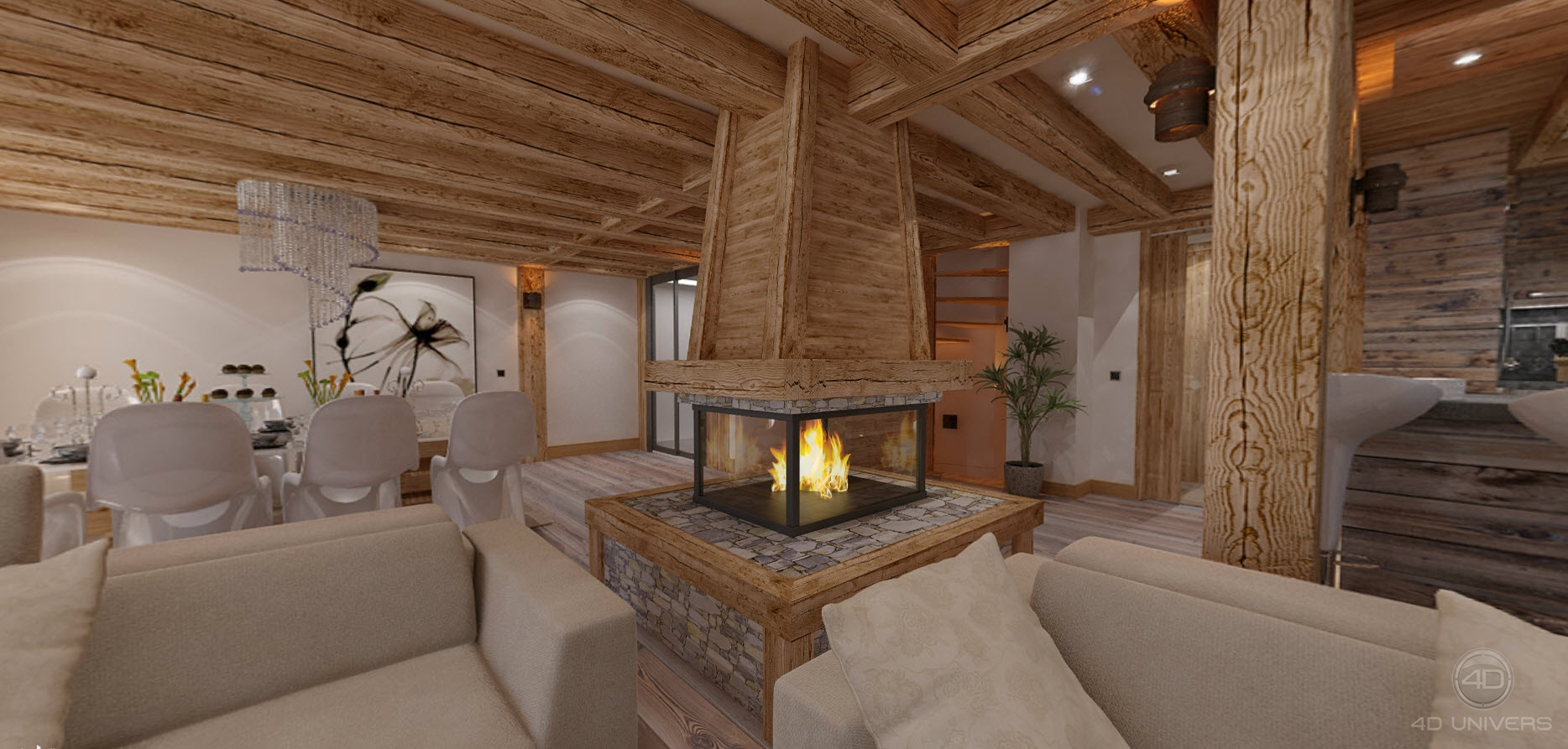 Decoration Interieur Chalet De Luxe Chalet 3d Luxe – 4d Univers • Studio Animation 3d
