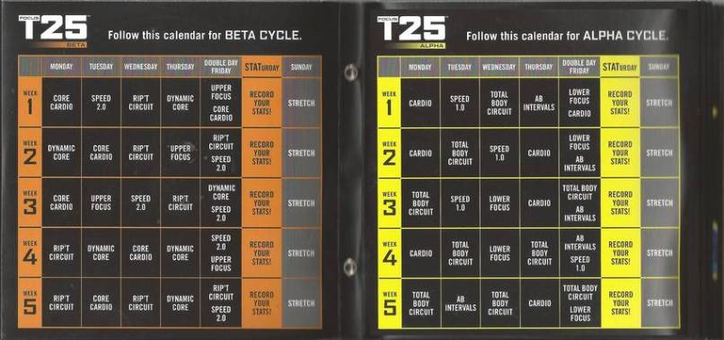 focus t25 workouts