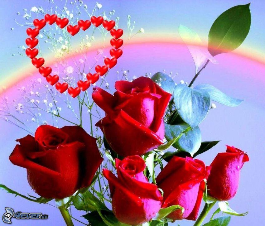 corazones con rosas - Goalgoodwinmetals - rosas y corazones