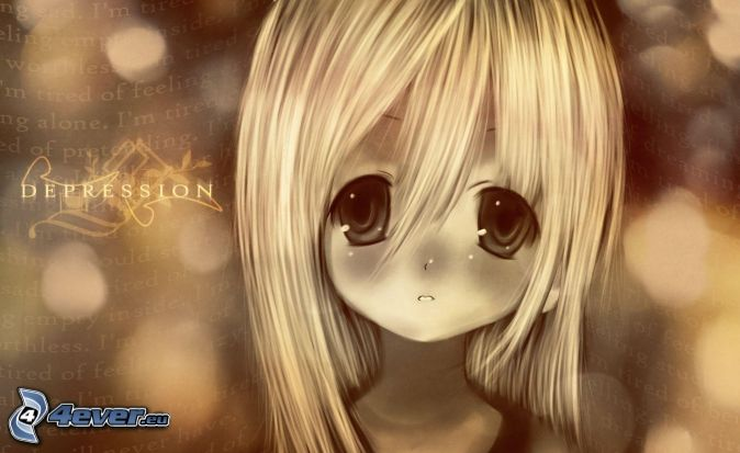Cute Anime Alone Wallpaper Fille Triste