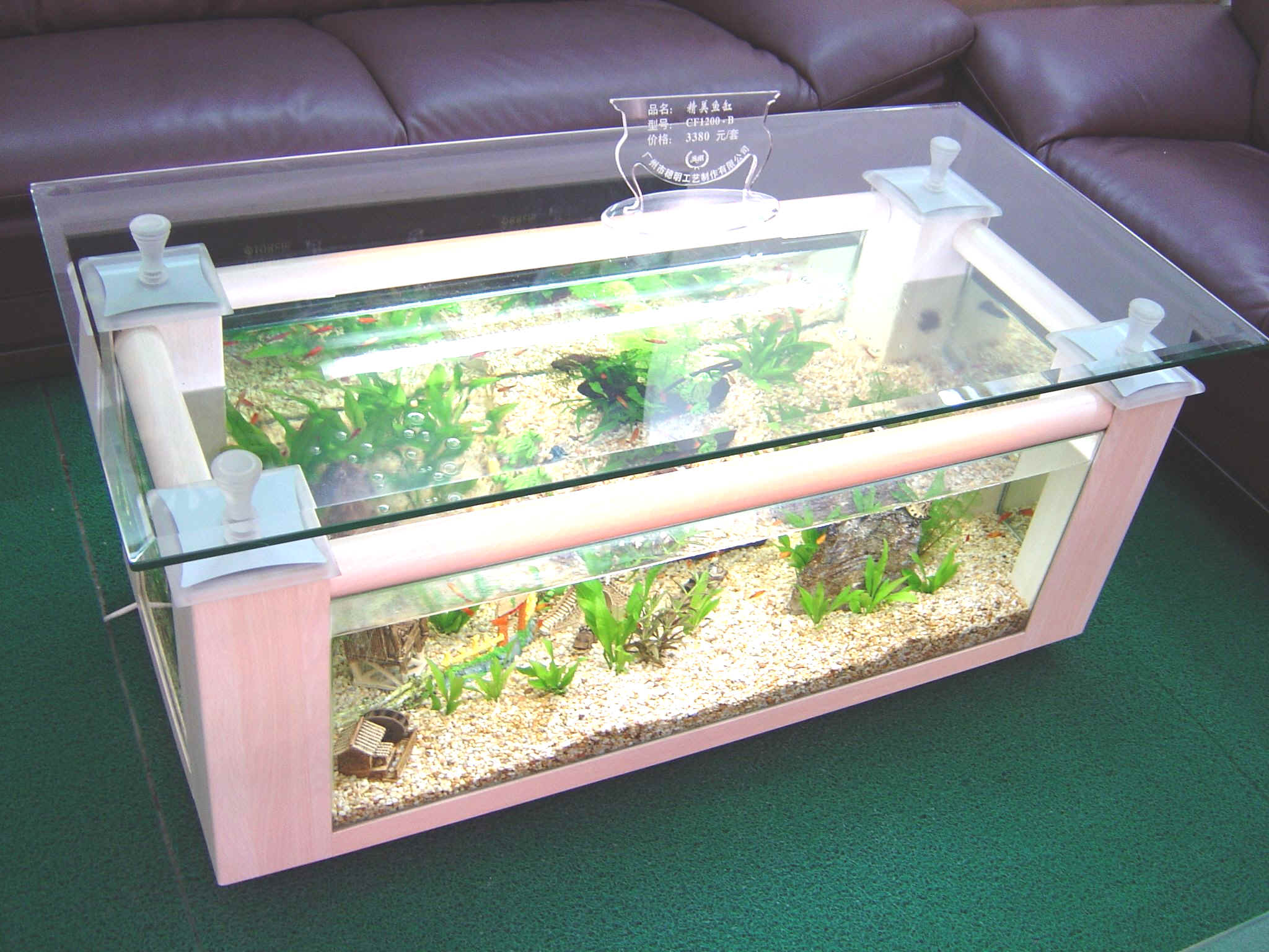 Couchtisch Vintage Wood Www.4fishtank.com - Coffee Table Aquariums - New York