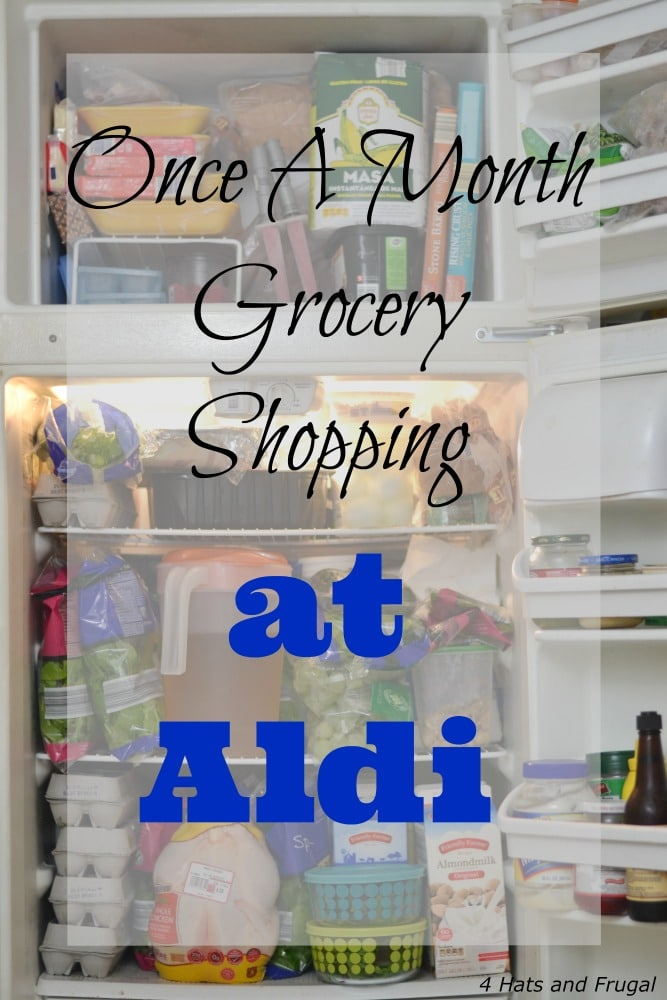 Once A Month Grocery Shopping at ALDI - $64 Grocery Budget Challenge