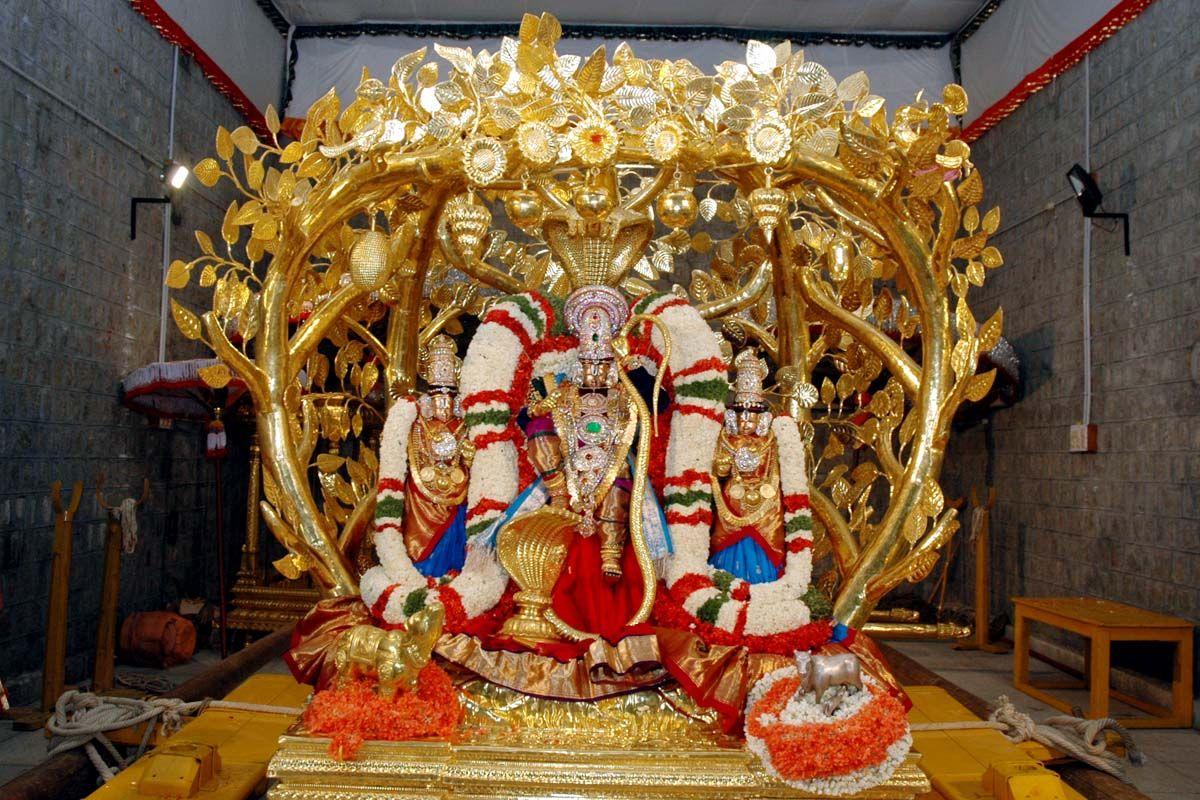 3d Wallpaper Of Sri Krishna Brahmotsavam Day 4 Kalpavriksha Amp Sarvabhupala Vahanams