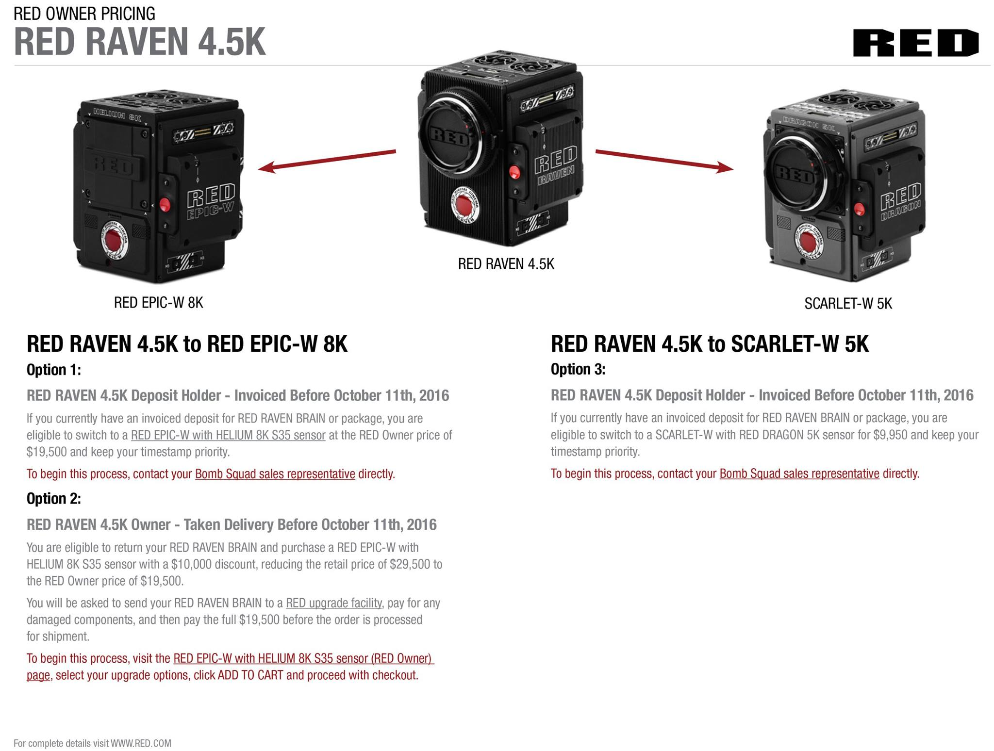 Red Raven Specs New Red Epic W 8k And Helium 8k S35 Cameras Officially