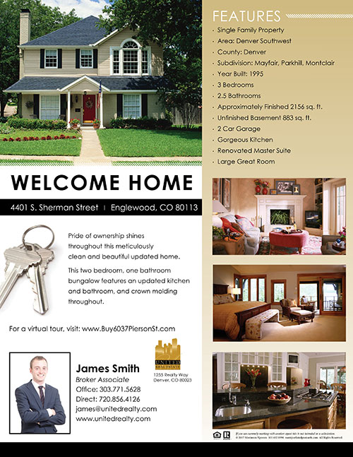 Home Listing Flyers Design Printing Template Real Estate Marketing