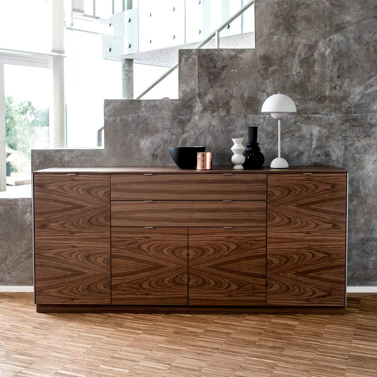 Nussbaum Sideboard Refined Modern Design From Skovby | Walnut Sideboard #942