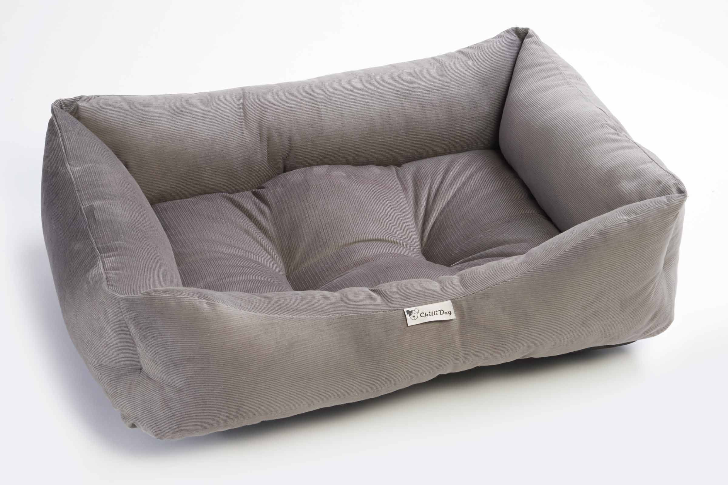 Cord Sofa Chilli Dog Bed Fossil Grey Cord Sofa Dog Bed