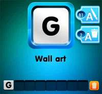 one clue wall art   4 Pics 1 Word Game Answers What's The ...