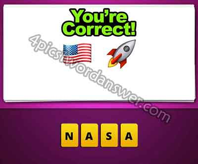 Guess The Emoji American Flag and Rocket 4 Pics 1 Word Game - word flag