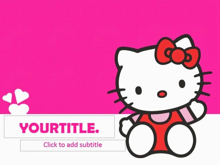 Pink Full Hd Wallpaper Hello Kitty Powerpoint Templates 4 Presentation