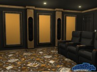 Acoustical Framed Wall Panels for Home Theaters