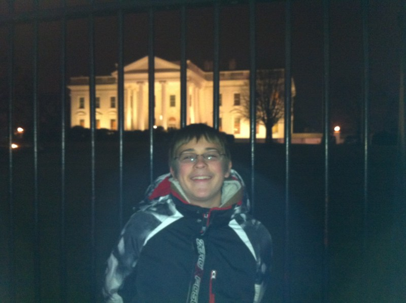 Kylan in front of the White House