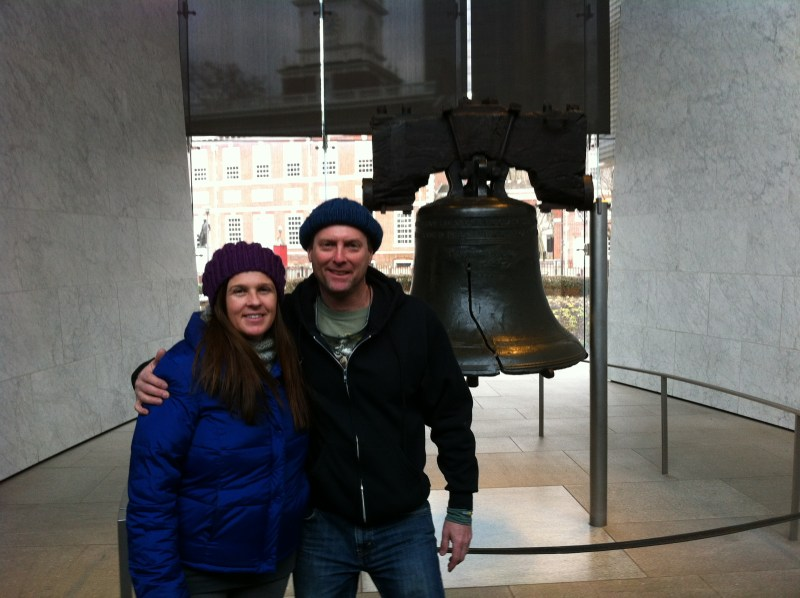 Anna and I at the Liberty Bell