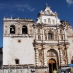 One of many churches damaged in an earthquake that are preserved in their damaged state.