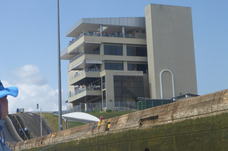 This is the observation deck for the Miraflores locks.