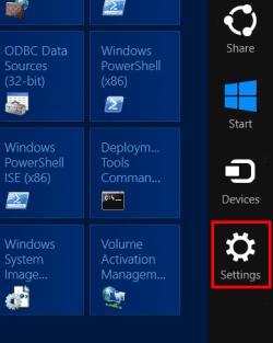Windows 8 charms bar – Mais configurações do PC