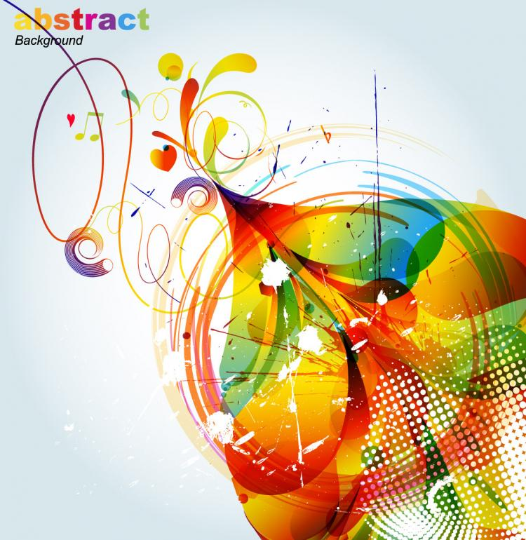 Cute Watercolor Wallpaper Abstract Colorful Fashion Pattern Vector Free Vector 4vector