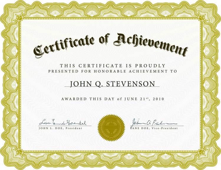 Certificate Template Ai Certificate Template Ai Elegant Certificate Of Completion Template Vector Free Beautiful Certificate Template 4 Vector Free
