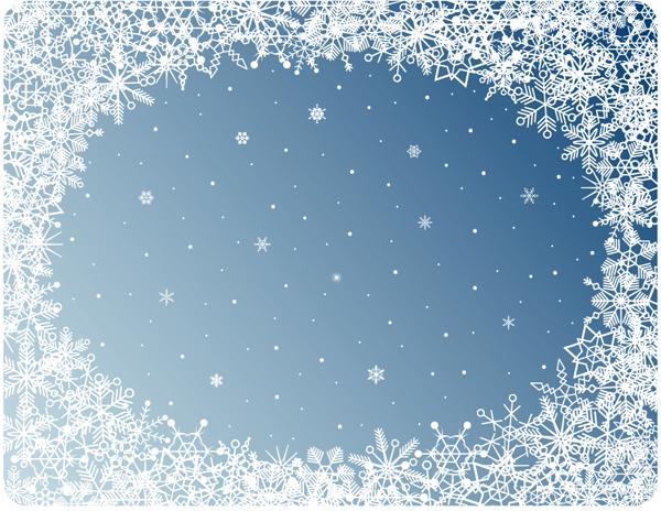Christmas Falling Snow Wallpaper Note 3 Beautiful Snowflake Photo Frame Vector Free Vector 4vector