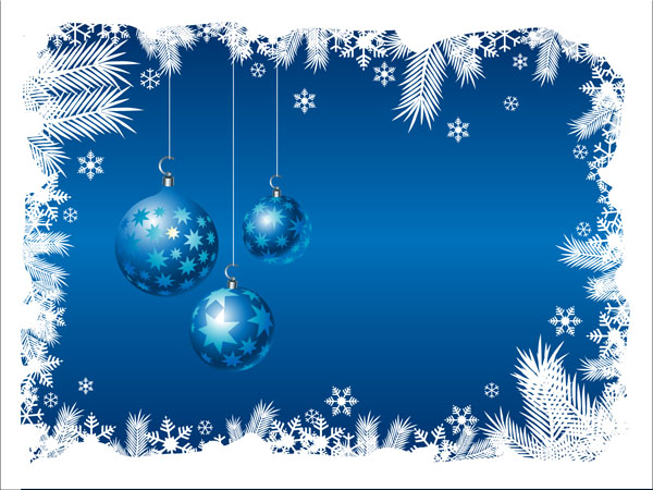 Blue christmas background 03 vector Free Vector / 4Vector - christmas background image