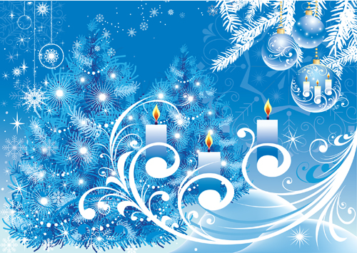 Snow Falling Wallpaper Download Blue Christmas Background Vector Free Vector 4vector