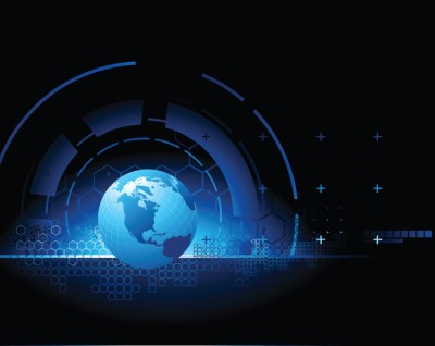 Earth science and technology theme vector background sense Free Vector / 4Vector