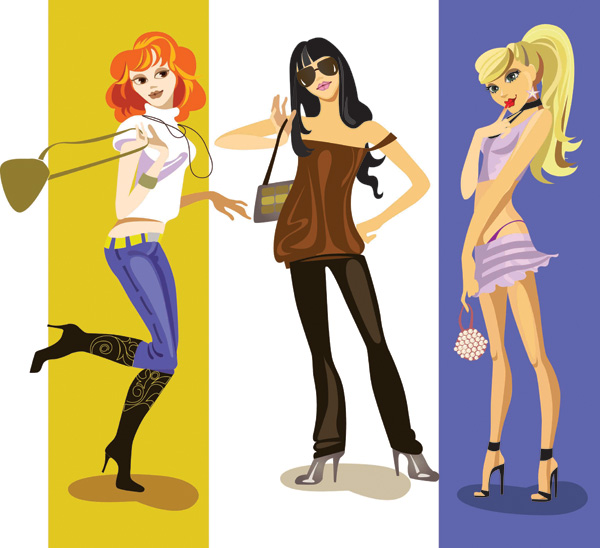 Fashion girl vector Free EPS Download / 4Vector