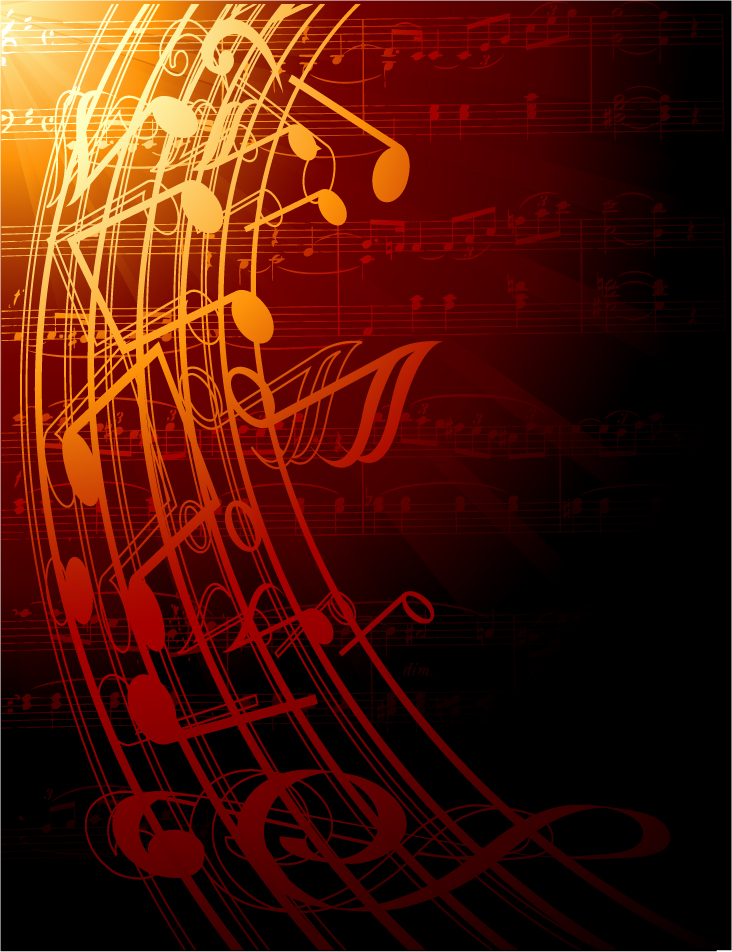 Gorgeous classical music background 04 vector Free Vector / 4Vector
