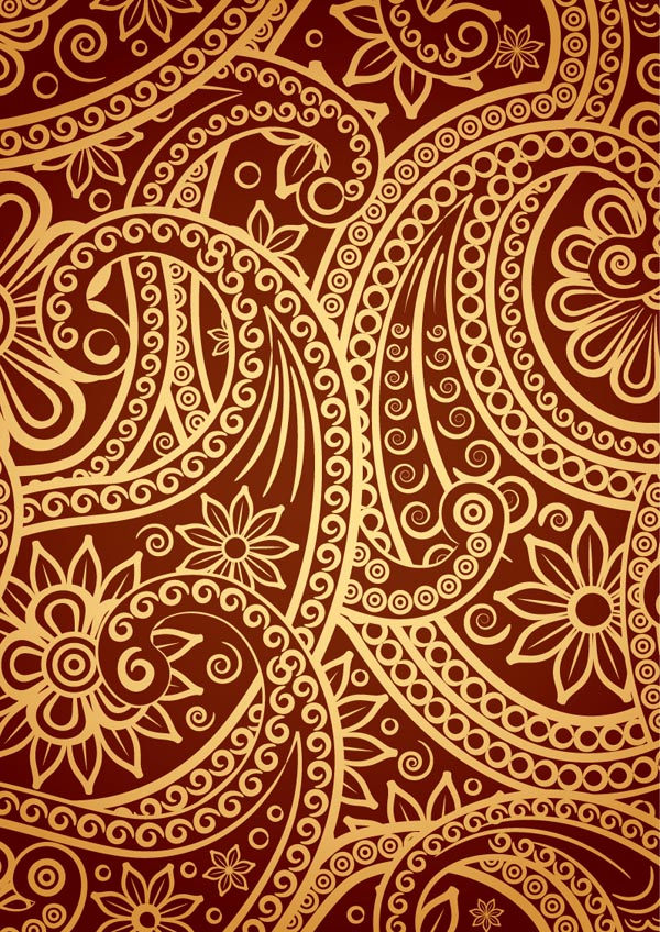 Wallpaper Black And White Damask India Ham Pattern Vector Free Vector 4vector