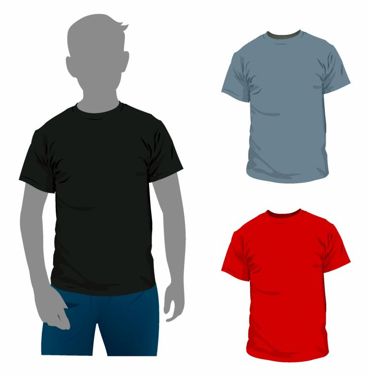 Black t shirt vector free -  T Shirt Free Vector Download