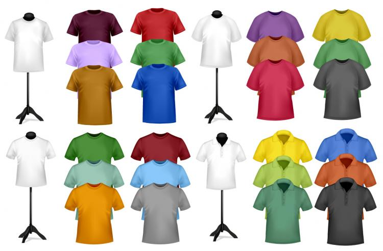 Black t shirt vector free -  Tshirt Template 03 Vector Free Vector Download