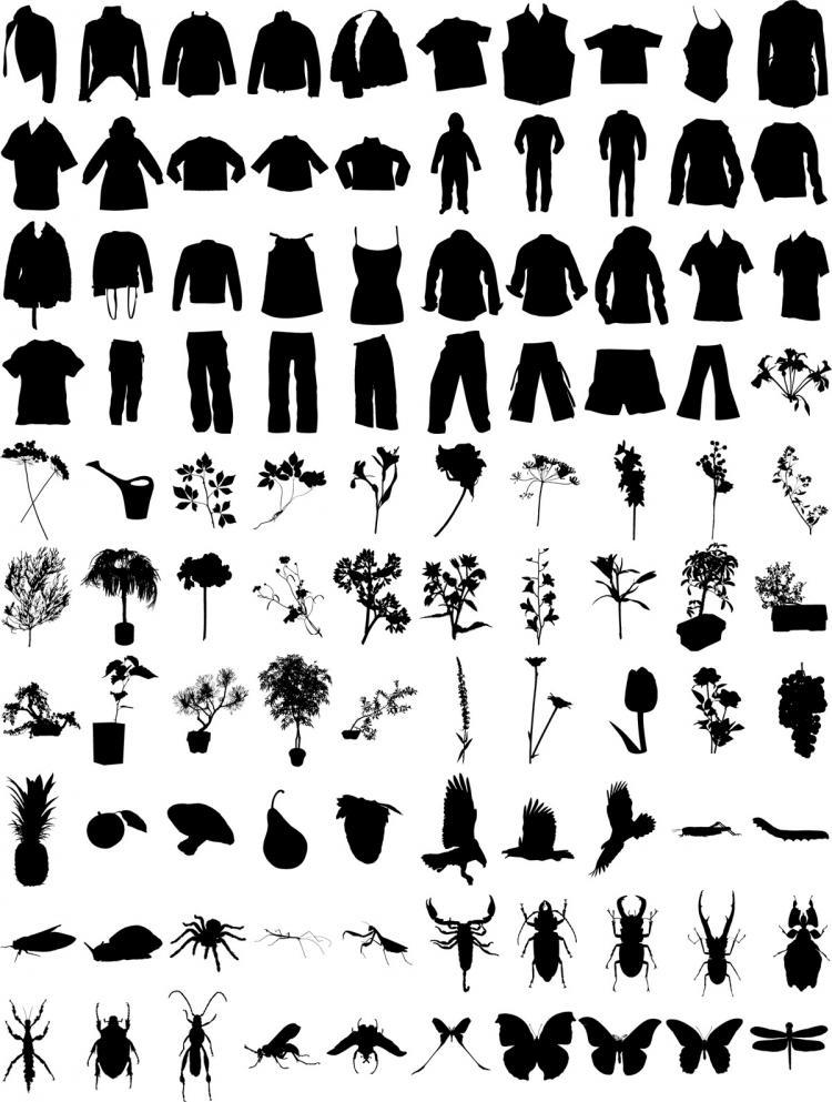 Black t shirt vector free - Black T Shirt Vector Free Free Vector T Shirt Pants Flowers Plants Insects Vector Material Download