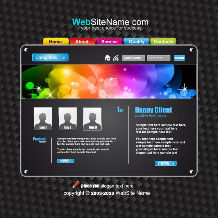 free dynamic website templates