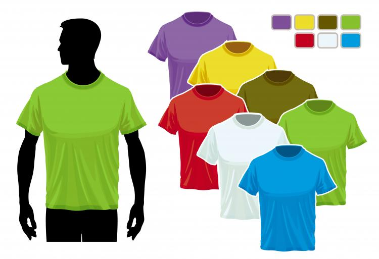 Black t shirt vector free - Black T Shirt Vector Ai Tshirt Template 02 Vector Free Vector Download