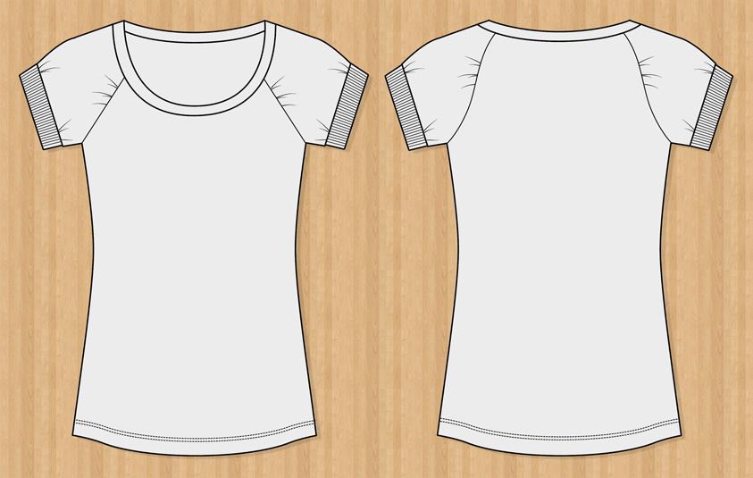 Vector T-Shirt Templates Free Vector / 4Vector - t shirt template