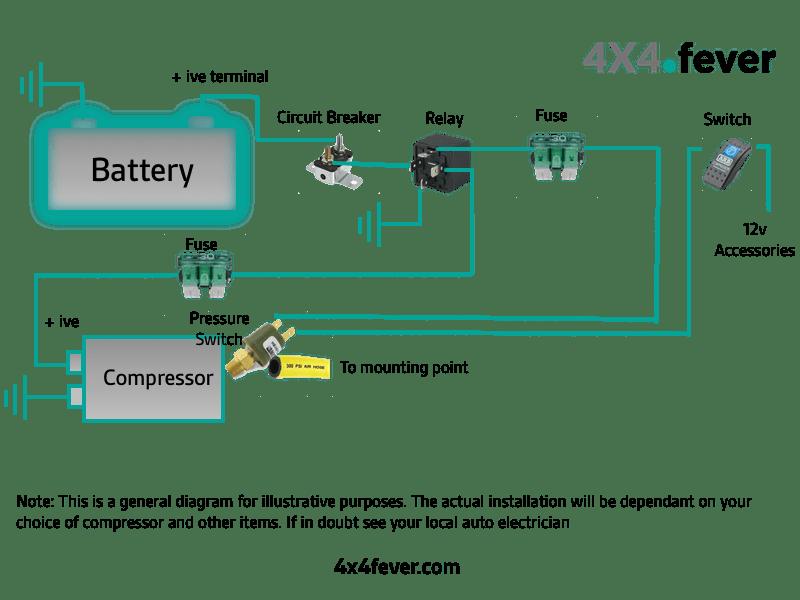 air compressor 4 wire switch diagram
