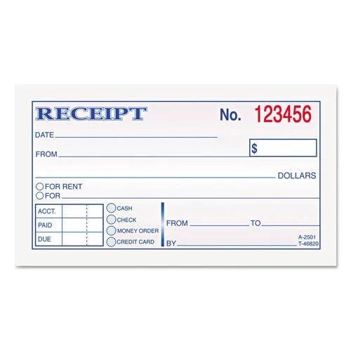 printable receipt book - Minimfagency