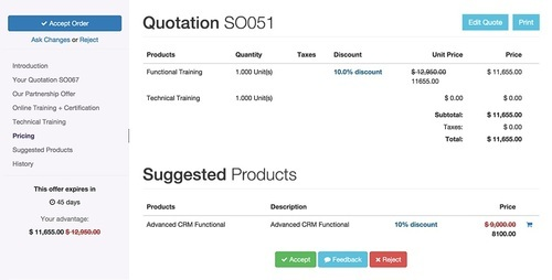 Odoo Easy Quotation Software, Rs 20000 /pack, Creansys Technologies