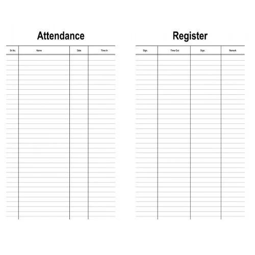 Attendance Registers