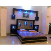 Mangalam Furnitures 6x6 Feet LED Light Double Bed, Rs ...
