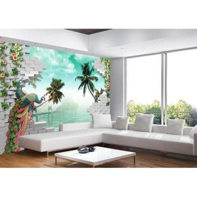 Printed Paper Living Room 3D Wallpaper, Rs 100 /square feet, Bombay Commercial Print Private ...