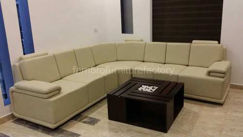 Design Ecksofa Leather Black Designer Corner Sofa Set, Rs 20000 /set
