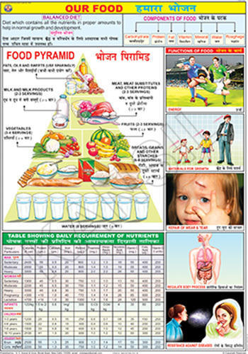 Food And Nutrition Charts - Our Food For Food And Nutrition Chart