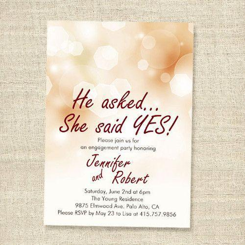 Engagement Invitation Card - View Specifications  Details of