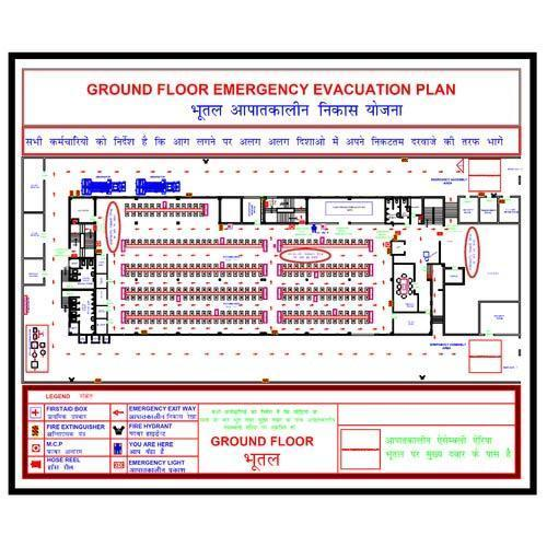 Fire Evacuation Plan Signage Omnigard System Manufacturer in