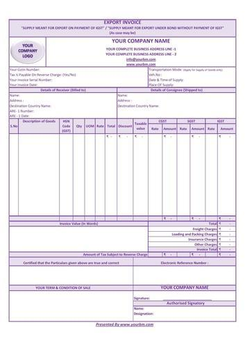 invoice book format