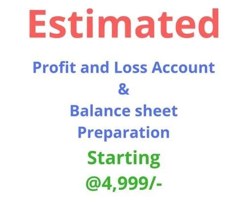 Estimated PL  Balance Sheet Preparation in Elgin, Kolkata, Amatya