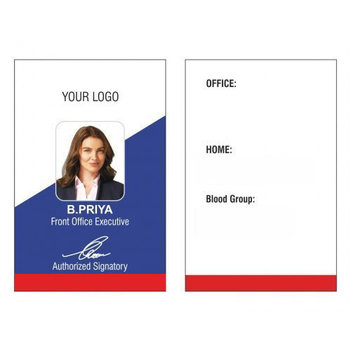 Printed Id Card at Rs 20 /piece Office Id Card ID 15645301488