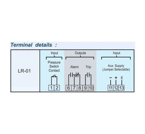 PECON LR 01 Latch Relay, Transformer Protection Relay - Mivan